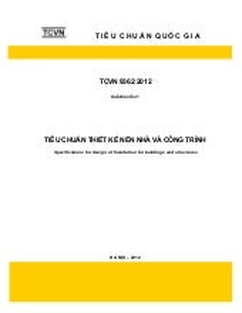 TCVN 9362 - 2012