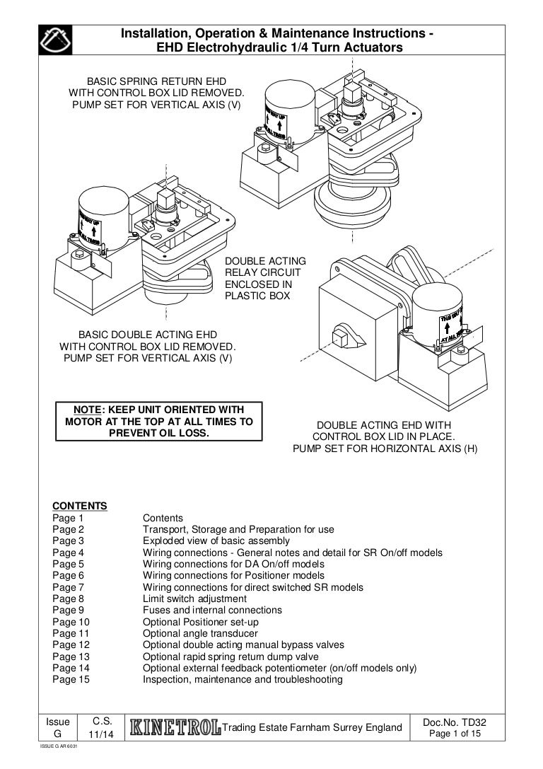Operating Instruction For Ehd Electrohydraulic Actuators Relay Circuit Unit