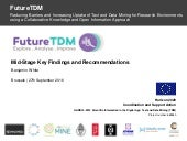 FutureTDM key findings and how the project will set out recommendations