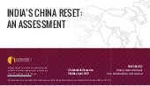 Takshashila Discussion Slidedoc: India's China Reset - An Assessment