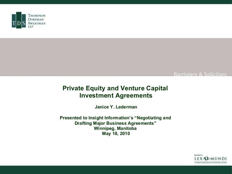 TdslawVPrivateequityandventurecapitalinvestmentagreementsPhpappThumbnailJpgCb