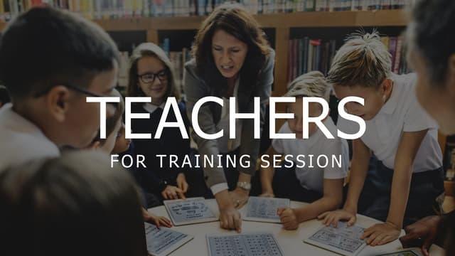 Teacher for training session