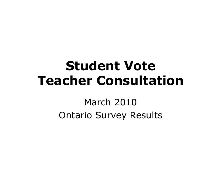 Teacher Consultation Survey Results