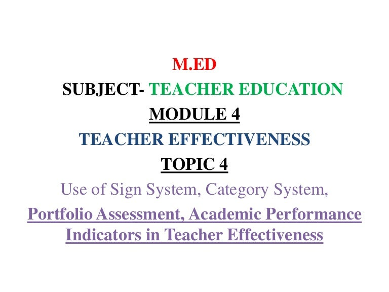 M Ed Teacher Education's Topic-Use of Sign System, Category