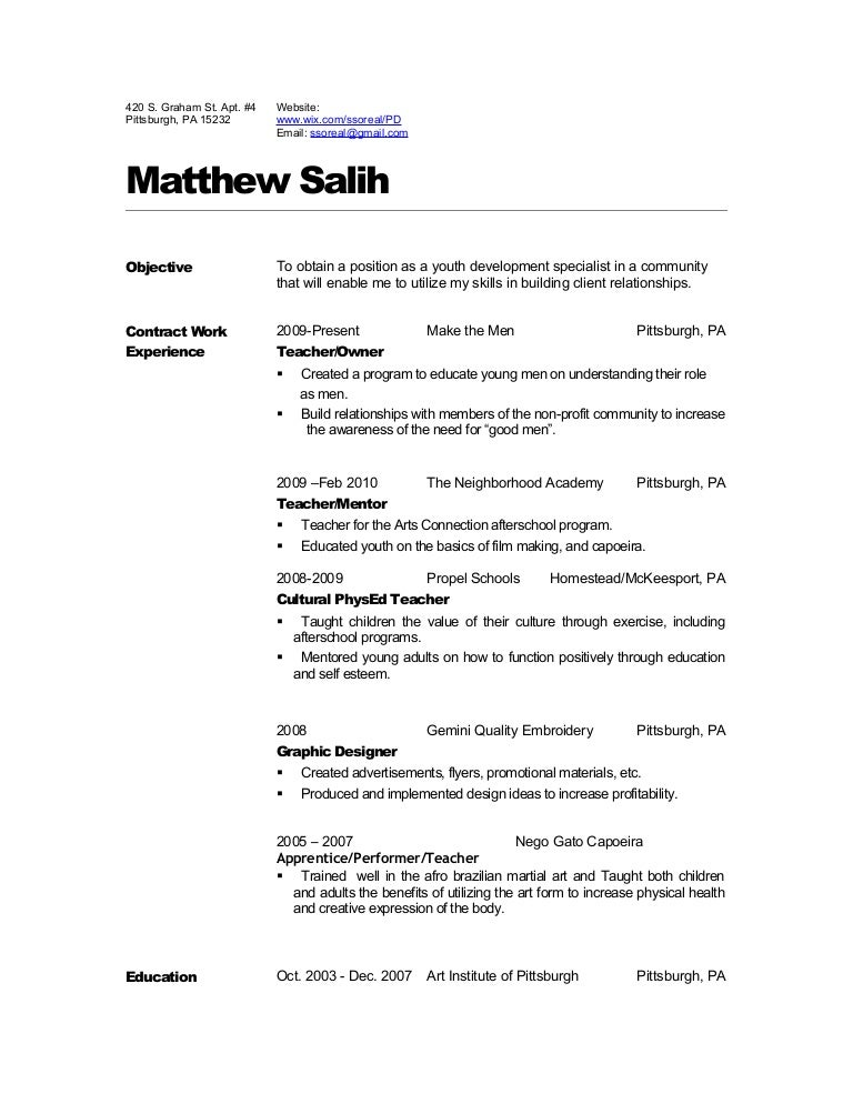 Dance Audition Resume Template Biology Teacher Student Format