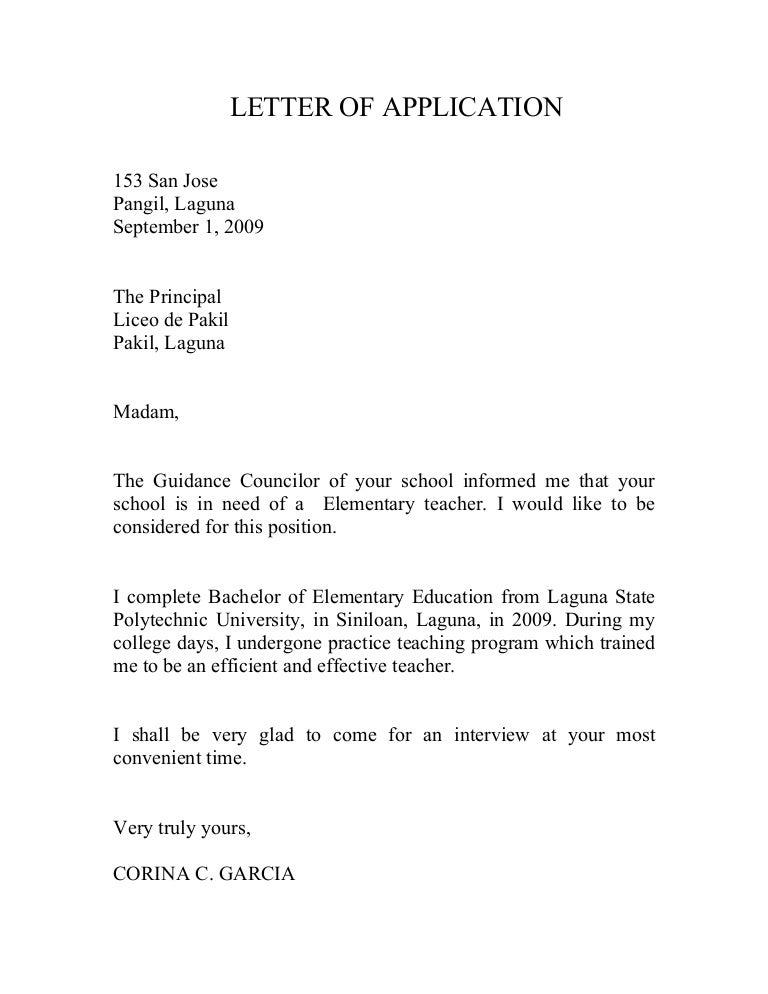 Application Letter For Teacher Deped - Secondary School Teacher ...