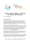 Teachers autistic children   useful tips for teachers and educators