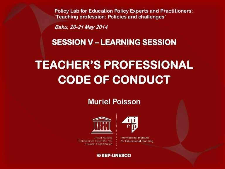 TEACHER'S PROFESSIONAL CODE OF CONDUCT