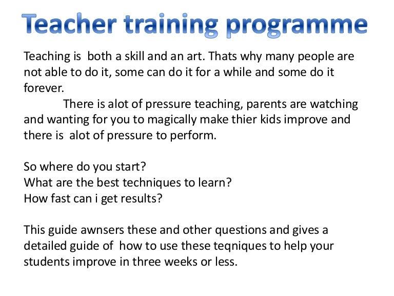 Teacher training ppt