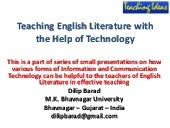 Teaching Ideas: Teaching English Literature with the help of technology