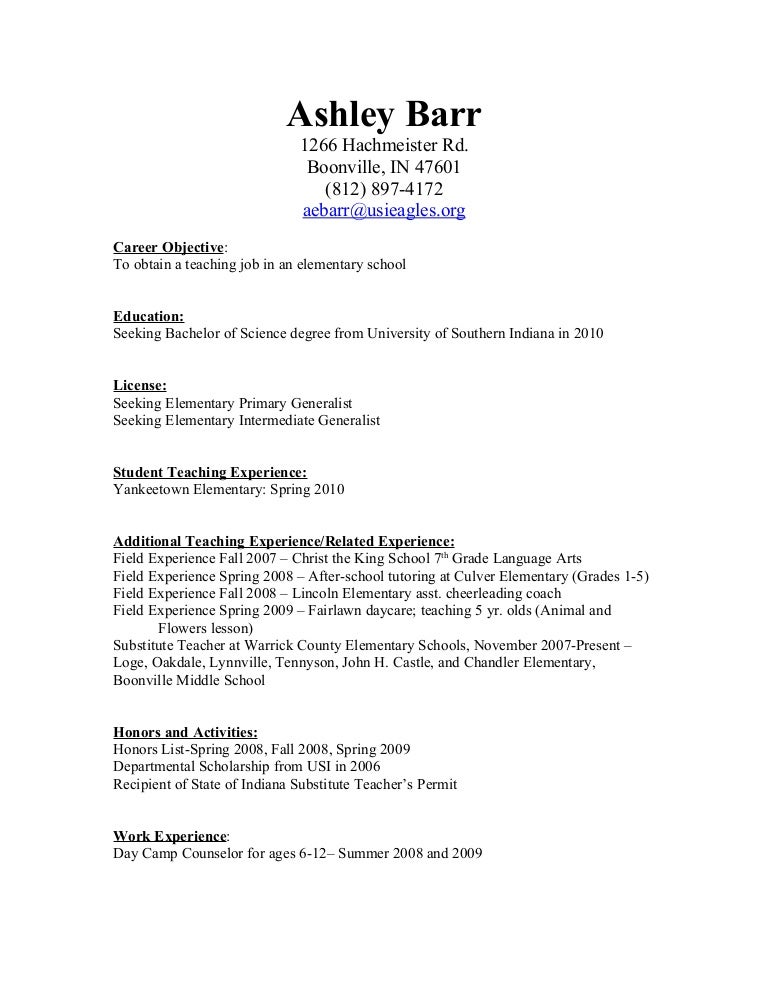 childcare resume cover letter