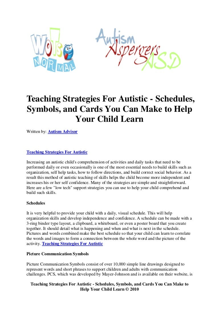 Teaching strategies for autistic schedules symbols and cards you biocorpaavc Images