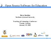Open Source in Education (2005)