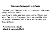 Teach language with fables