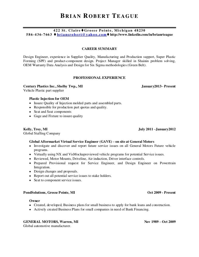 teague brian resume9 20 13century seatdocx - Component Design Engineer Sample Resume