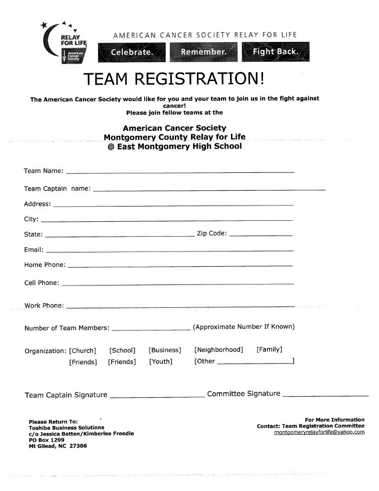 Team Registration Form
