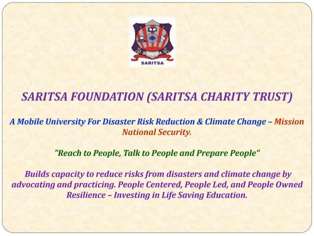 Team of saritsa sensitizes preparedness for disasters as a karma (duty) of everyones