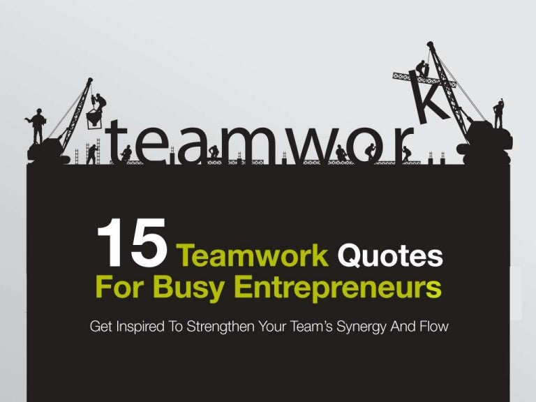 teamwork quotes for busy entreprenuers