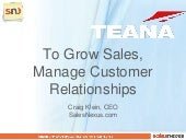 Grow Sales with Customer Relationship Management