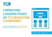 Improving Landing Pages of IT Consulting Services Companies: A Website Teardown