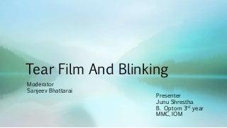 Tearfilm & blinking