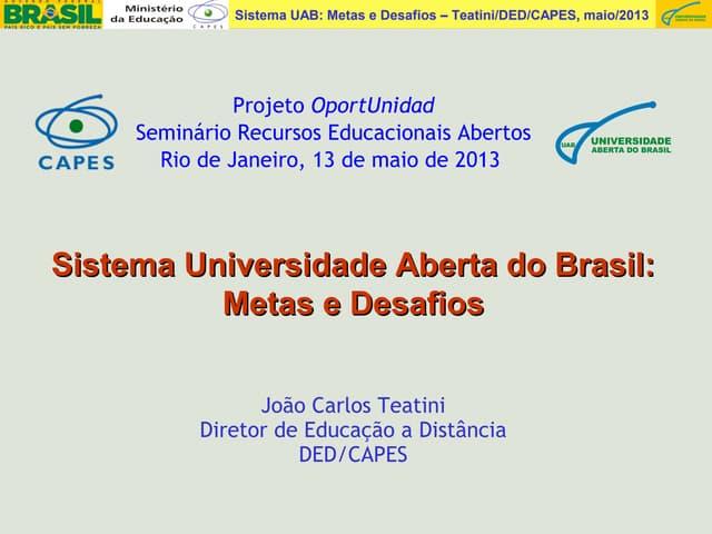 Seminário Recursos e Práticas Educacionais Abertas no Ensino Superior: desafios e oportunidades - João Carlos Teatini