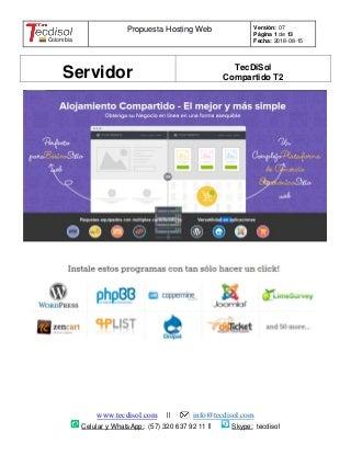 Internet Hosting Net En Colombia Desde Co$6 700