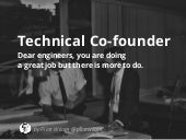 Dear engineers, you are doing a great job but there is more to do