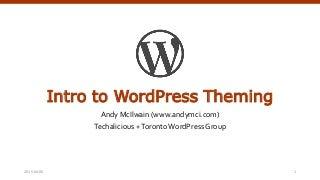 Intro to WordPress Theming