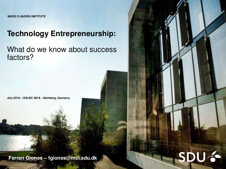 Technology Entrepreneurship:What do we know about success