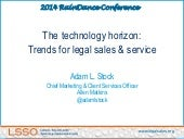 The technology horizon: Trends for legal sales & service