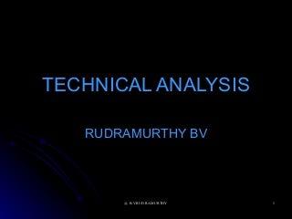 Technical Analysis Rudramurthy