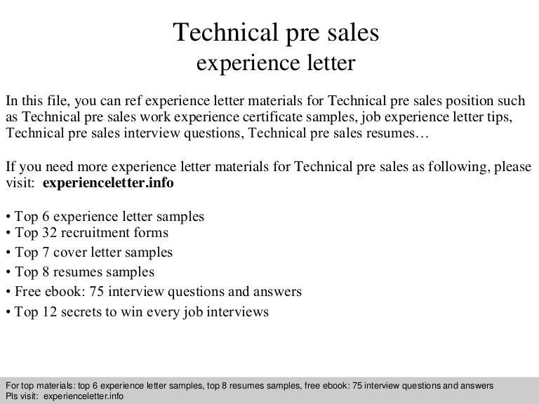 technicalpresalesexperienceletter 140828094036 phpapp02 thumbnail 4 jpg cb 1409218862