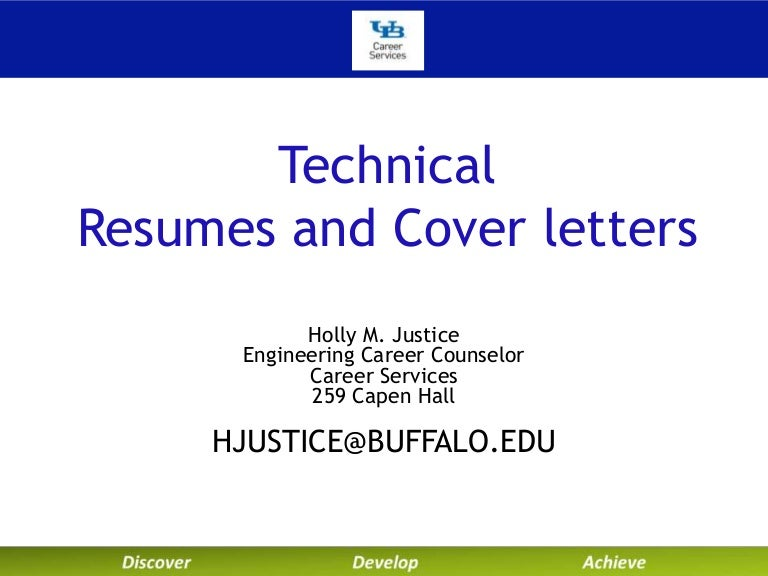 University At Buffalo Career Services Technical Resumes And Cover Let…