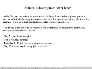 Sales Engineering Manager Cover Letter Aploon