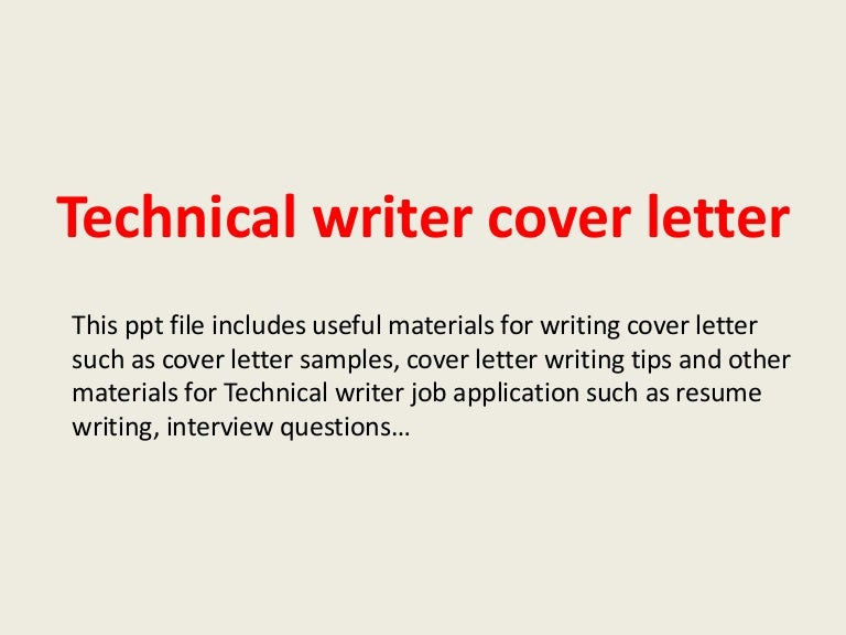 Technicalwritercoverletter 140306033317 Phpapp01 Thumbnail 4?cbu003d1394076892