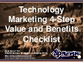 Technology Marketing 4-Step Value and Benefits Checklist (Slides)