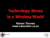 Technology Stress In A Wireless World   27 Dinner