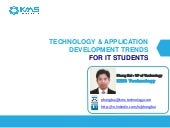 Technology Application Development Trends For IT Students