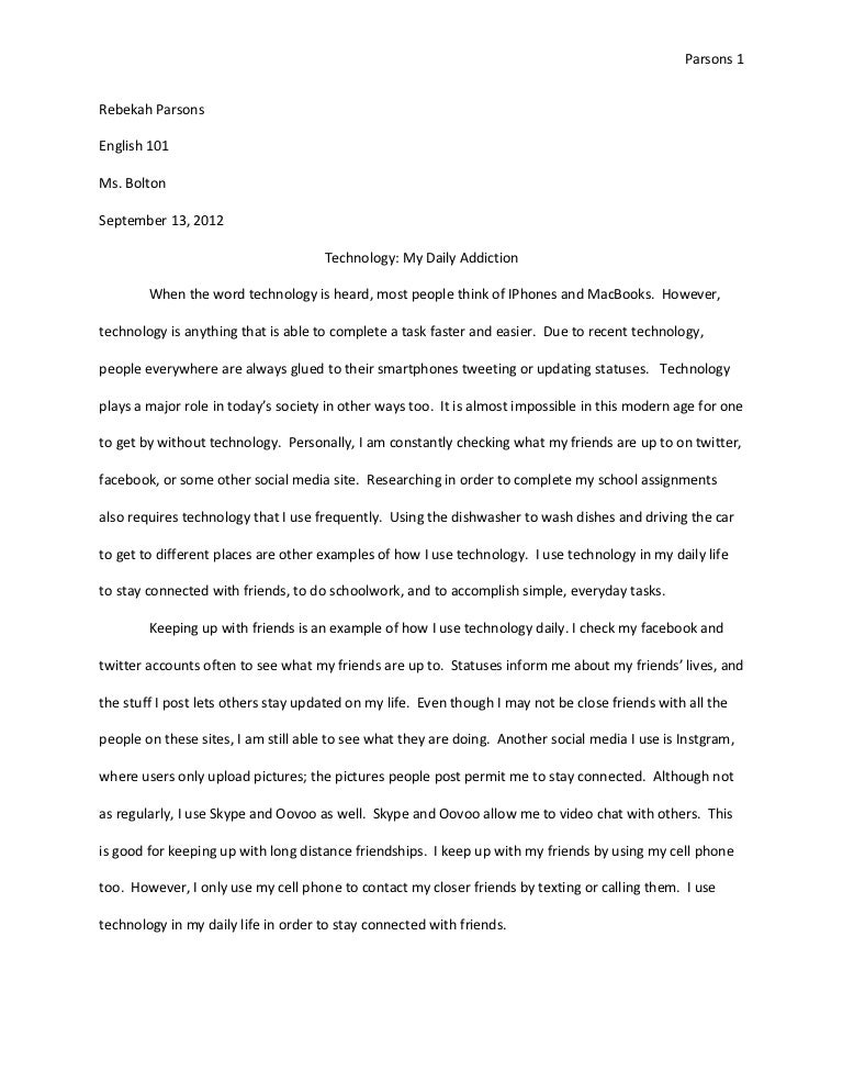 expository essay on science and technology