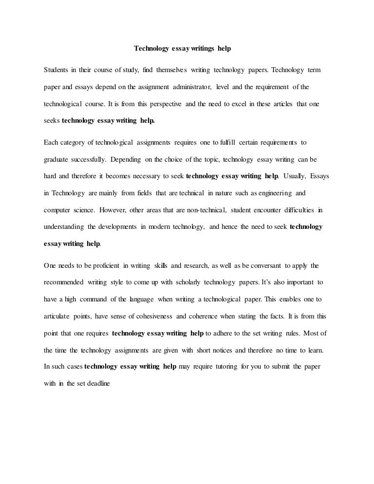 Search Essays In English Technologyessaywritingshelpthumbnailjpgcb The Yellow Wallpaper Essay also High School Sample Essay Technology Essay Writings Help Science Fiction Essay Topics