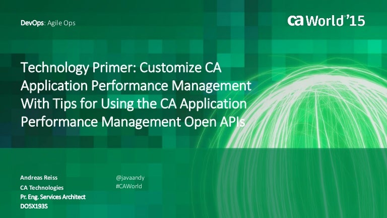Technology Primer: Customize CA Application Performance Management …