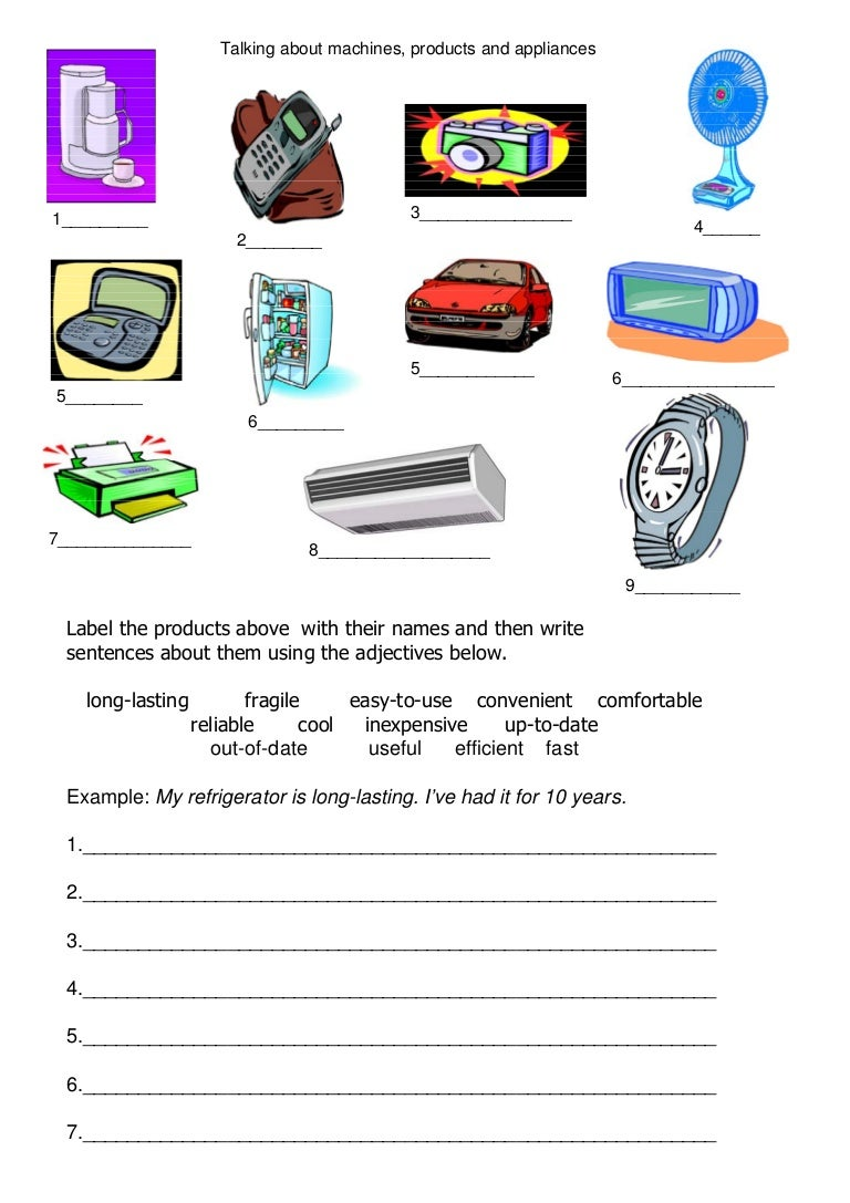 Technology worksheet