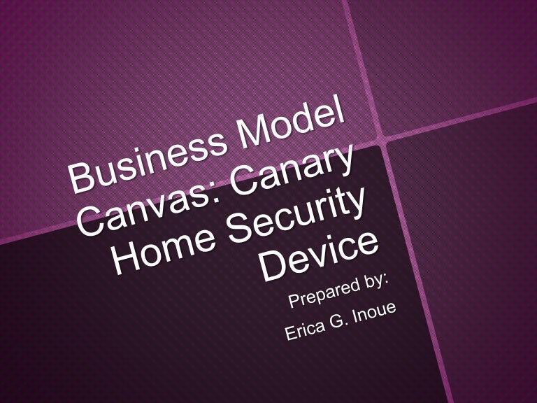 Home security business model