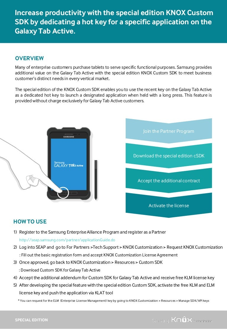 Tech Sheet: Special Edition KNOX SDK for Galaxy Tab Active