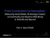 From Connection to Innovation: Measuring Social Media Technology's Impact on Community and Business Well-Being in Techville and Beyond