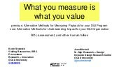 What You Measure is What You Value