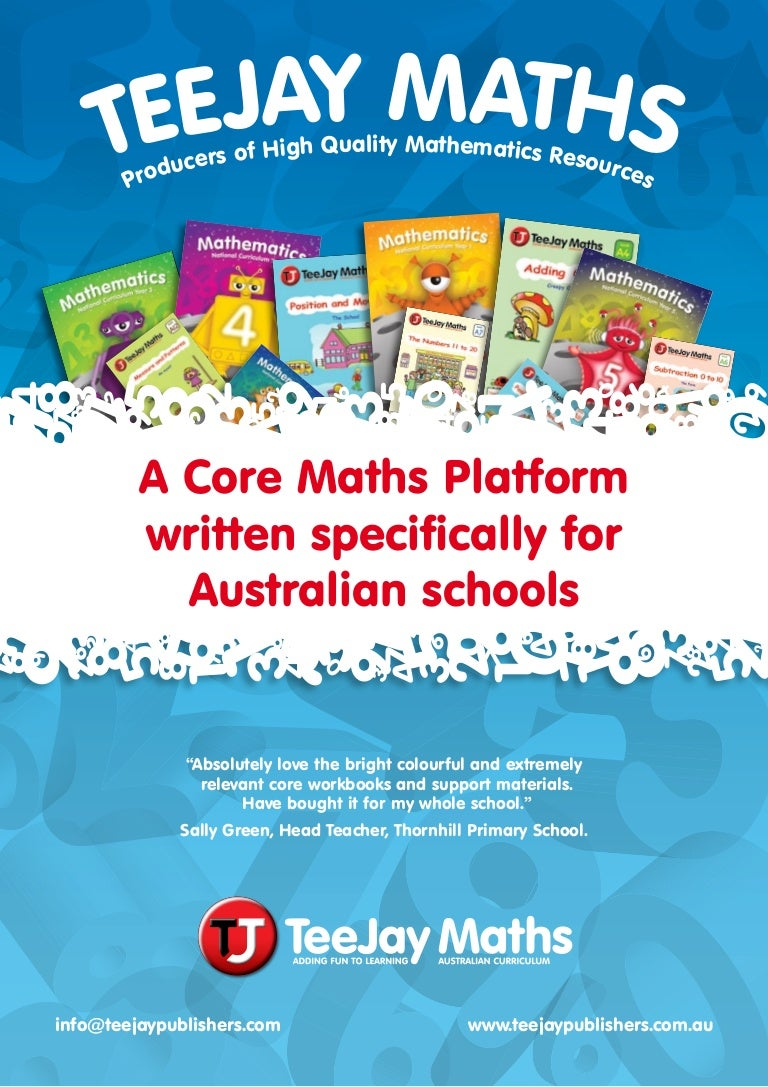 Teejay Maths - Book Content Summary