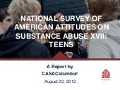 National Survey of American Attitudes on Substance Abuse XVII: Teens