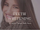 Teeth Whitening - Ways To Prevent Teeth Stains
